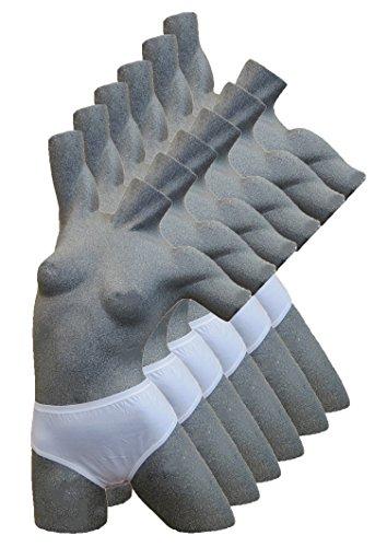 3er 6er SET Damen SLIP Maxislip Unterhose Unterwäsche Panty Taillenslip 100% Baumwolle 6er Weiß