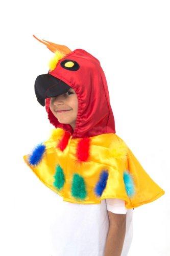 Papagei Kostüm Kinder (3-8 Jahre alt) - Faschingskostüm Kinder - Karneval Papagei - Slimy Toad (Papagei Kostüm Mädchen)