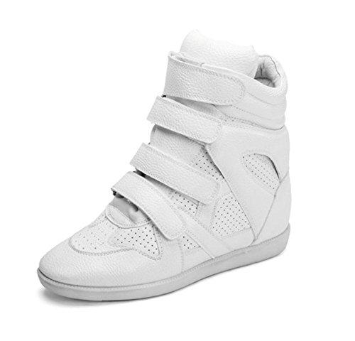 Cair Dos Brancas Casuais Rodada Superiores Respirável Sapatos Singles Sapatos Dentro De pra5wp