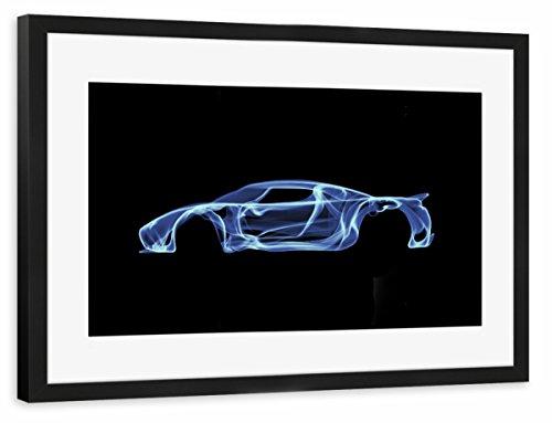 artboxone-poster-mit-rahmen-60x40-cm-automobile-sport-sport-motorsport-koenigsegg-agera-blau-gerahmt
