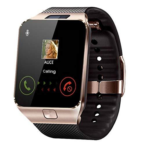 DDGOU Intelligente Sport Gold smart Armbanduhr unterstützung SIM Kamera für Frauen männer Unisex Uhr für Android Phone Alloy Digital Kamera