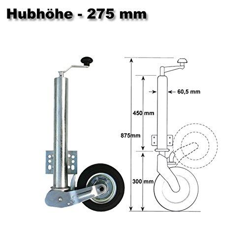WilTec 453kg Automatique Roue Jockey de Remorque