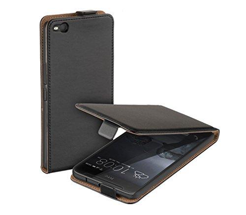 yayago Flip Tasche für HTC One X9 Hülle Flip Case Schwarz