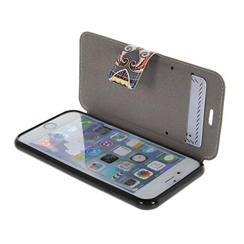MOONCASE Coque en Cuir Portefeuille Housse de Protection Étui à rabat Case Pour Apple iPhone 6 ( 4.7 inch ) 05