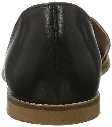 Bianco Damen Sandale mit Fersenkappe 21-49294 Geschlossene Schwarz (Black)