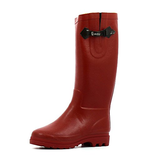 Aigle Aiglentine Fur, Stivali da pioggia donna, rosso, 35 UE
