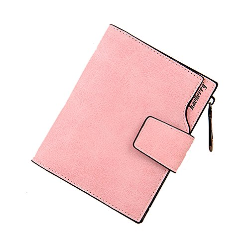 Ulisc Women Fashion Leisure Folded Card Holder Slim Wallets Mini Zipper Coin Purse (Fold Wallet Double)