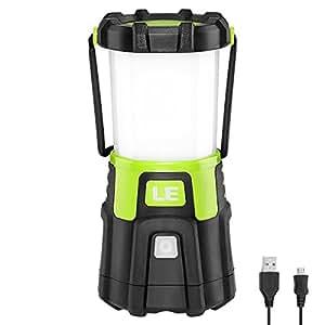 LE Lanterna LED, Ultra Luminosa 1200lumen 10W 4 Modalità, Modalità Fissa e Flash, Ricaricabile Cavo USB Compreso, Power Bank, Carica Smartphone per Emergenze Campeggio Gite Pesca Trekking