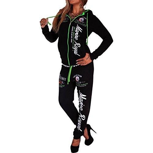 Donna Tuta da jogging Marine Royal Design, formazione della giacca