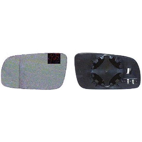 Vetro specchio retrovisore sx BORA GOLF IV 97-03 el ris asferico blu