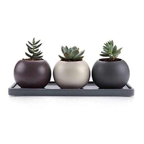 T4U 7.5CM Set of 3 Design Cameo Double Layer Hollow Ceramica...