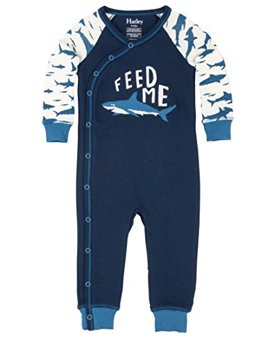 Hatley Organic Cotton Baby Wrap Sleepsuit, Pigiama Bimba, Blue (Feed