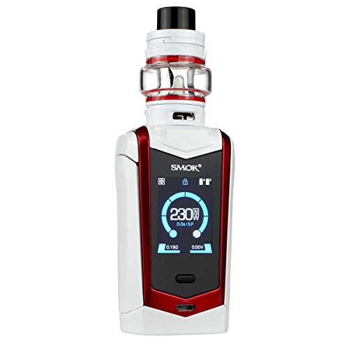 SMOK Species Kit 230 W, mit TFV Mini V2 Clearomizer 5 ml, Riccardo e-Zigarette, weiß-rot