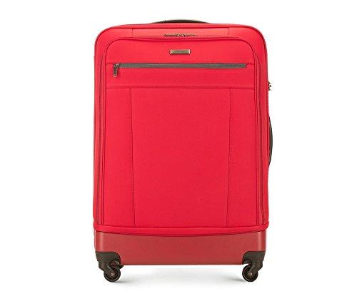 WITTCHEN Groß Reisekoffer | Farbe: Rot | Material: Polyester | Größe: 75 x 52 x 26 cm | Gewicht: 3.7 kg | Kapazität: 80 L | Sammlung: Conti | 56-3S-513-30