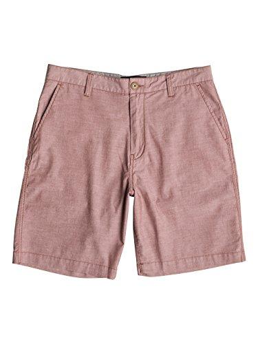 Quiksilver, Pantaloni corti Uomo Oxford, Marrone (Mahogany), 34