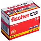 100 Stück Fischer Nylon Dübel S6 6x30 mm 50106