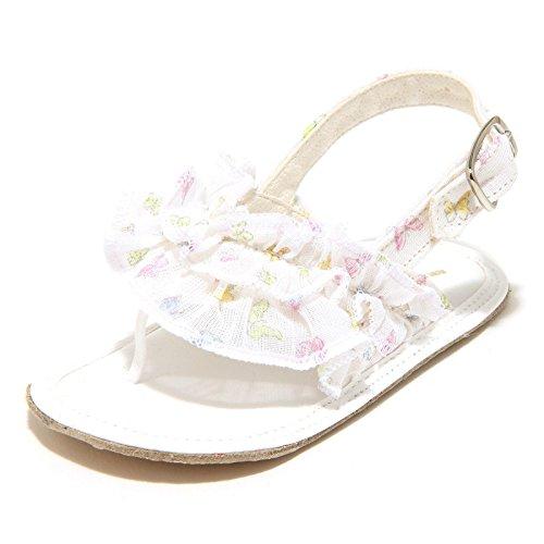 5826G sandalo culla bimba bianco SCERVINO BABY tessuto scarpa shoes kids [18]