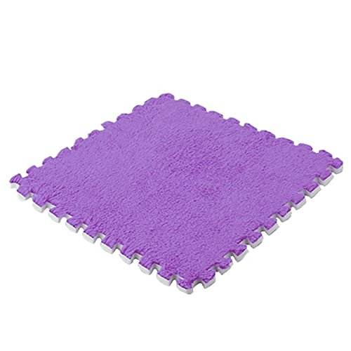 Weiche Baby Kids Schaum Puzzle Bodenmatte, Teppich Schaumstoff Spielmatte für Bodenschutz, Garage, Übung, Yoga, Spielzimmer (lila) - Schaumstoff Ineinander Greifende Matten