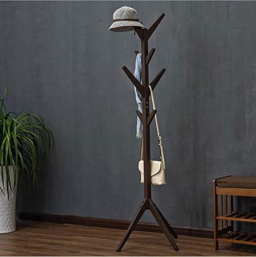QSBY Holzmantel Stand Baum Zweig Hut Und Coat Rack Für Einweg Hallway Bedroom Closet Gardrobe 8 Haken 175CM Massivholz,Brown - White Coat Rack
