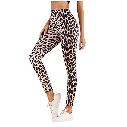 Qinmm Pantalones Estampado Leopardo Para Mujer Elegante Lapiz Delgado Pantalones Elasticos De Cintura Alta Elastica Leggings Pantalones