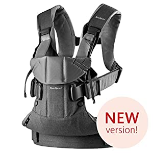 BABYBJÖRN Baby Carrier One, Cotton Mix, Denim Grey/Dark Grey, 2018 Edition   4