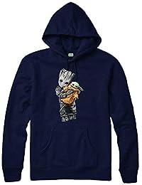 Sudadera con capucha Baby Yoda Baby Groot, Star Wars Jedi Marvel Avengers Superhero Unisex Top