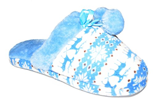 BTS -weiche en peluche avec pompon en norvégien, couleurs bleu tailles 36 à 41–fabriqué dans l'uE Bleu - Bleu