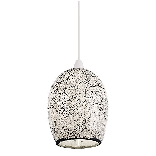Windsor non electric 60W pendant light white mosaic glass