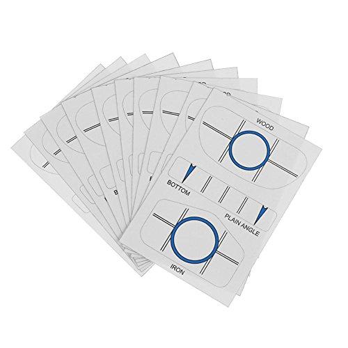 JUNERAIN 10 Sätze Golf Impact Tapes Labels Recorder Kit für Woods Eisen und Putter