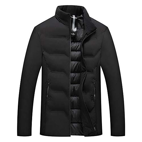 HUIHUI Winterjacke Herren Winter Mantel Herbst elegant Jacket Plus Size (Schwarz,XXXL) - Herren-winter-mäntel Size Plus