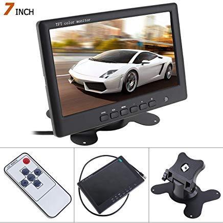 Super Dünn 17,8cm Farbe TFT LCD 2Kanäle Video Eingang Auto Rear View Monitor HD 800X 480