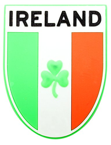Irish Gifts PU-Kühlschrank-Magnet, Tricolour with Shamrock -