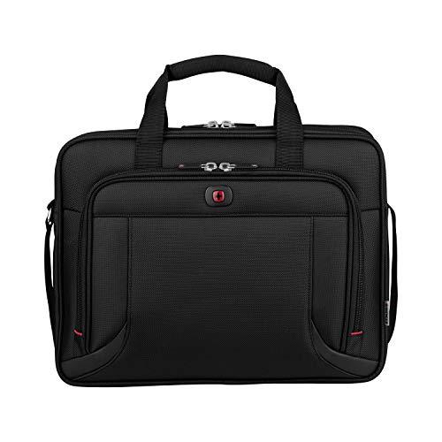 """Wenger 600649 PROSPECTUS 16"""" Laptop Aktentasche, gepolsterte Laptopfach mit iPad/Tablet / eReader Tasche in schwarz {15 Liter}"""