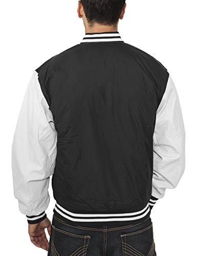 Urban Classics Jacke Light Jacket, Blouson Homme Multicolore (Black/White)