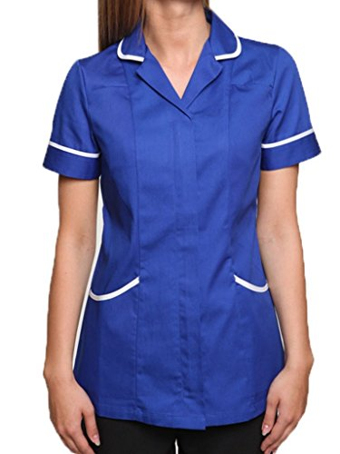 41fpMLoa8SL - BEST BUY #1 Nightingale Health Healthcare Nurses Doctors Therapist Massage Tunic Uniform (8, Royal Blue/White) Reviews and price compare uk