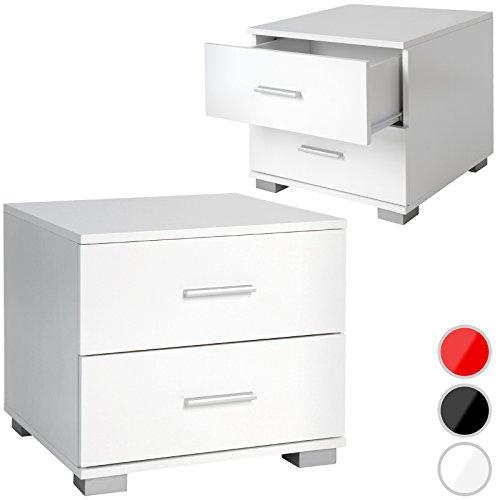 MIADOMODO Nachttisch Nachtkommode Beistelltisch im klaren Design pflegeleichtes Material und vielseitig kombinierbar mit Farb- und Setwahl (Billig Für Kommode Set Schlafzimmer)