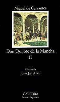 Don Quijote de la Mancha, II par Miguel De Cervantes