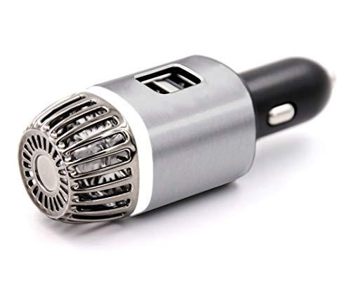 NIOSS Auto-Luftreiniger Ionisator mit 2X ultraschnellen USB-Ladeanschlüssen. Ionen-Luftreiniger - entfernt Pollen, Rauch, unangenehme GerüChe