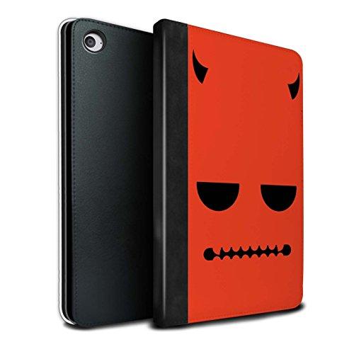 Stuff4® PU-Leder Hülle/Case/Brieftasche für Apple iPad Mini 4 Tablet/Teufel Muster/Halloween Zeichen Kollektion