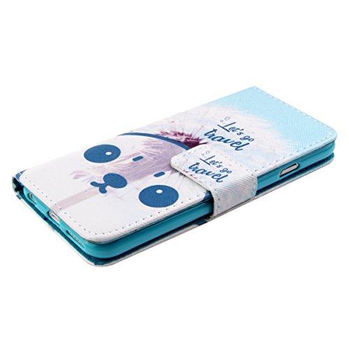 Ukayfe Custodia portafoglio / wallet / libro in pelle per Apple iphone 4/4S - Retro Fiore Modello Design Con Cinturino da Polso Magnetico Snap-on Book style Internamente Silicone TPU Custodie Case in  lets go travel