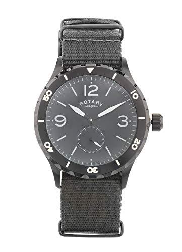 Rotary Uomo Cronografo Cinturino Intercambiabile Nero IP 5ATM Orologio