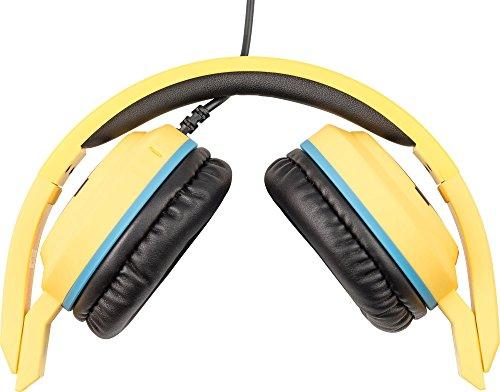 Minions Stereo On-Ear Kopfhörer mit Mikrofon und Lautstärkeregler für Handy - Carl, Tribe HPW12100