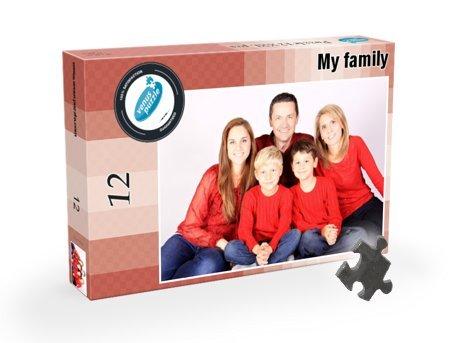 Puzzle mit eigenem Foto 12XXL Tiele, Große Puzzleteile Fotopuzzle, Individuelles Puzzle mit eigenem Foto - Puzzle Foto