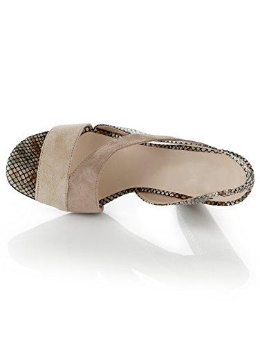 Damen Sandalette im Farbenmix by Alba Moda Beige/Braun