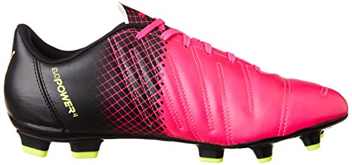 Puma Evopower 4 3 Fg, Chaussures de Football Homme Rose (Pink Glo/Safety Yellow/Black)