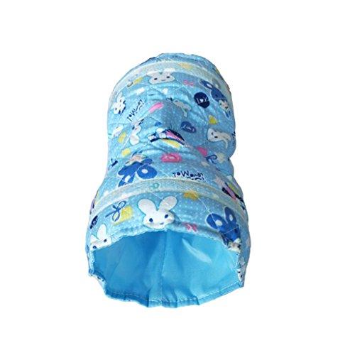 MagiDeal 2-Wege Haustier Spielzeug Tunnel Rohr Bett Spieltunnel für Meerschweinchen Hamster Mäuse Kleintier - Blau