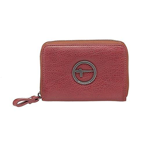 Tamaris SU Damen Brieftasche Geldbörse, 3 Farben: espresso braun, bordeaux rot oder schwarz, 7001142, Farbe:bordeaux rot