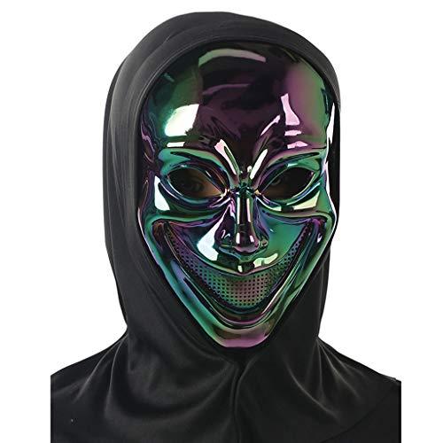LZY Maske- Holy Day Maskerade Smiley Ghost Dämon Zombie dunkel überzogene Maske (Farbe : Black B, größe : One Size)