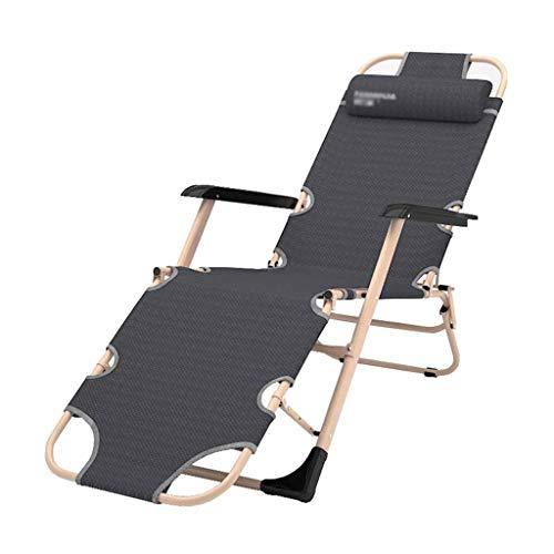Chaise Longue inclinable Chaise Longue Zero Gravity Chaise Longue Relaxer Garden Beach avec Repose-tête Gris
