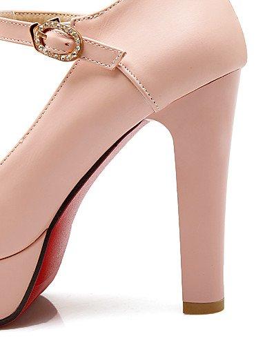 WSS 2016 Chaussures Femme-Bureau & Travail / Décontracté-Bleu / Rose / Blanc-Gros Talon-Talons / Bout Arrondi-Talons-Polyuréthane blue-us9.5-10 / eu41 / uk7.5-8 / cn42